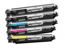 5x TONER CE310A 10A DO HP LaserJet CP1025 Color