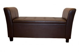 Sofa Medium Brown - BROWN PU