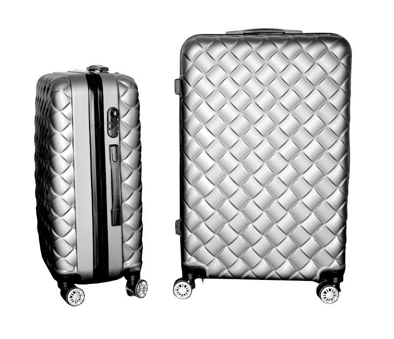 Suitcases set of 3 Silver