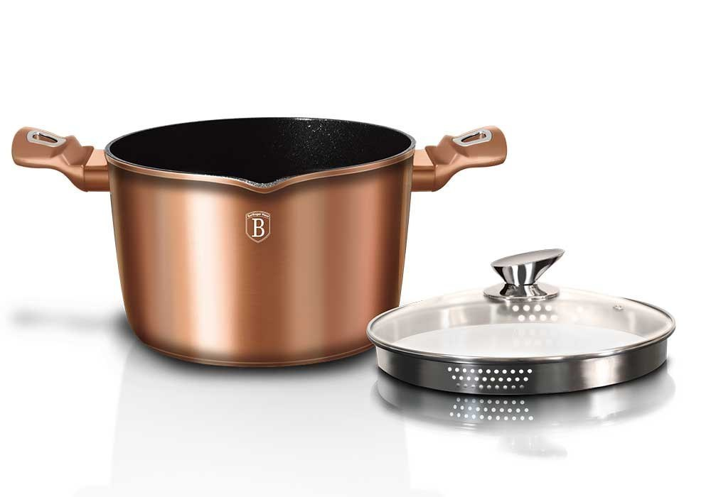 GARNEK GRANITOWY DO MAKARONU 24cm BERLINGER HAUS ROSE GOLD BH-1520