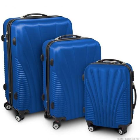 a07baff5be9b7 Zestaw walizek podróżnych ABS FUNNEL M,L,XL Niebieski